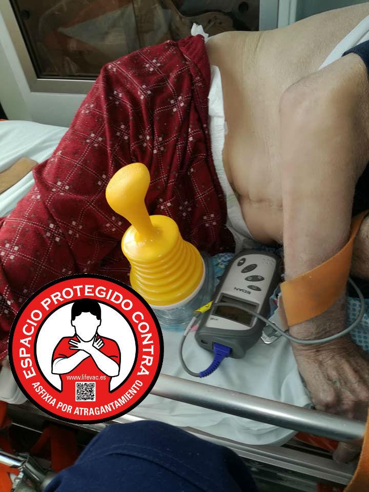 LIfeVac salva una vida de la asfixia por atragantamiento