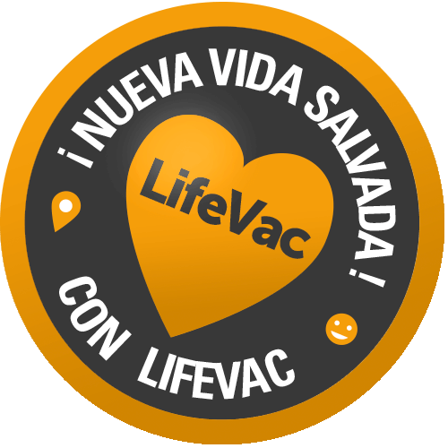 Sello nueva vida salvada con LIFEVAC - IES MEDICAL